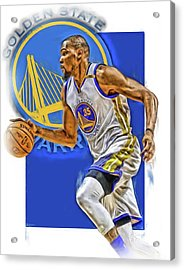 Kevin Durant Golden State Warriors Oil Art Acrylic Print