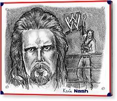 Kevin Nash Outsider Acrylic Print by Chris  DelVecchio