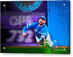 Kevin Pillar In Action II Acrylic Print