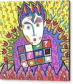 Kevin Acrylic Print by Sharon Nishihara