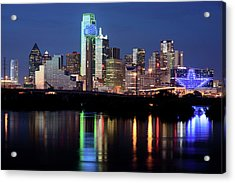 Jerry's Dallas Skyline Acrylic Print