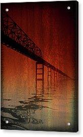 Key Bridge Artistic  In Baltimore Maryland Acrylic Print by Skip Willits
