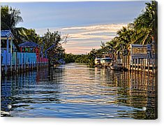 Key Largo Canal Acrylic Print