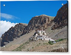 Acrylic Print featuring the photograph Key Monastery by Yew Kwang