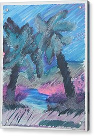Key Palms Acrylic Print by Judy Loper