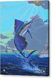 Key Sail Off0040 Acrylic Print by Carey Chen