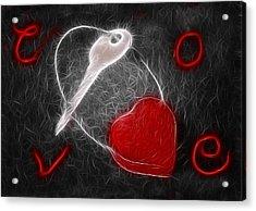 Key To The Heart Acrylic Print