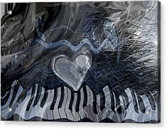 Key Waves Acrylic Print by Linda Sannuti