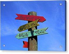 Key West 165 Miles Acrylic Print