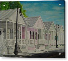 Key West Cottages Acrylic Print by John Schuller