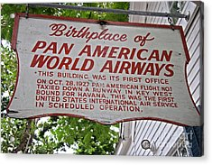 Key West Florida - Pan American Airways Birthplace Acrylic Print by John Stephens