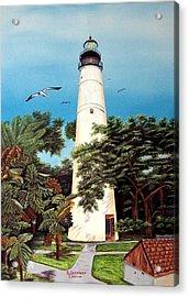 Key West Lighthouse Acrylic Print by Riley Geddings