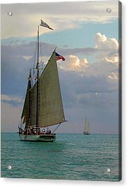 Acrylic Print featuring the photograph Key West Sail by Gordon Beck