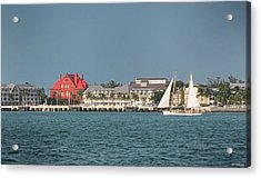 Key West Shoreline Acrylic Print by Frank Mari