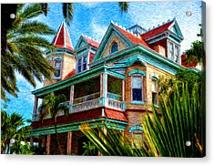 Key West Southern Most Hotel Acrylic Print by Bill Cannon