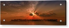 Key West Sunset Panoramic Acrylic Print by Melanie Viola