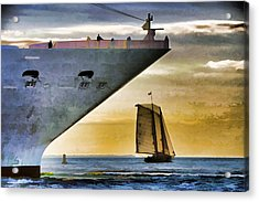 Key West Sunset Sail Acrylic Print by Dennis Cox WorldViews