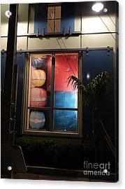 Key West Window Acrylic Print by Expressionistart studio Priscilla Batzell