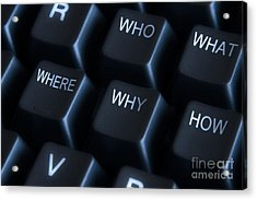 Keyboard With Question Labels Acrylic Print by Blink Images