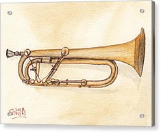 Keyed Trumpet Acrylic Print by Ken Powers
