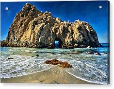 Keyhole Rock At Pheiffer Beach #13 - Big Sur, Ca Acrylic Print