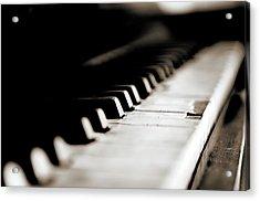 Keys Of Old Piano Acrylic Print by Javier Sánchez