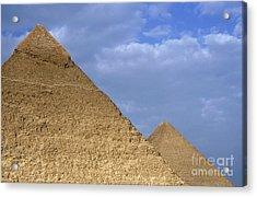 Khephren Pyramid And The Great Pyramid Acrylic Print by Sami Sarkis