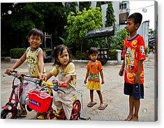 Khmer Kids Acrylic Print