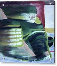 Kick Save Acrylic Print by Ken Yackel