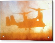 Kicking Up A Dust Storm Acrylic Print