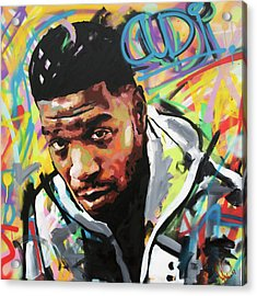 Acrylic Print featuring the painting Kid Cudi by Richard Day
