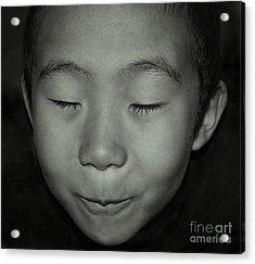 Kid From Beijing  Acrylic Print by Alexandra Jordankova