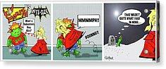 Kid Monsta Triptych 3 Acrylic Print