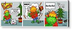 Kid Monsta Xmas Triptych Acrylic Print