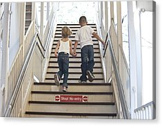 Kids Going Where They Shouldn't  Acrylic Print by Neil Stern