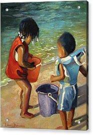 Kids Play Acrylic Print