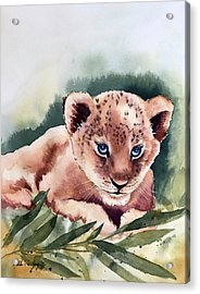 Kijani The Lion Cub Acrylic Print