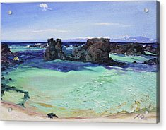 Kikaua Point Beach Acrylic Print by Joseph Demaree