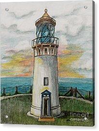 Kilauea Lighthouse Acrylic Print by Linda Simon