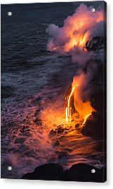 Kilauea Volcano Lava Flow Sea Entry 6 - The Big Island Hawaii Acrylic Print by Brian Harig