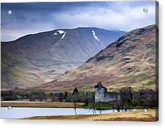 Kilchurn Castle On Loch Awe In Scotland Acrylic Print