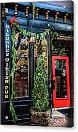 Kildares Irish Pub At Christmas Acrylic Print