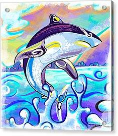 Killer Shark Acrylic Print by Bedros Awak