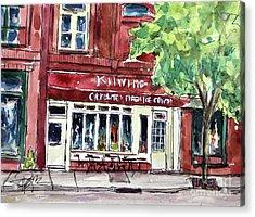 Kilwins On Main Acrylic Print by Tim Ross