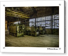 Acrylic Print featuring the photograph Kilns by R Thomas Berner