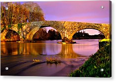 Kilsheelan Bridge At Night Acrylic Print