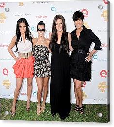 Kim Kardashian, Kourtney Kardashian Acrylic Print by Everett