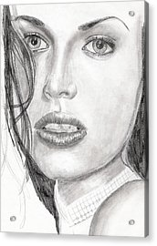 Acrylic Print featuring the drawing Kim by Michael McKenzie