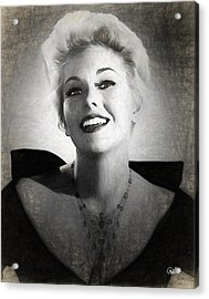 Kim Novak Actress Acrylic Print by Quim Abella