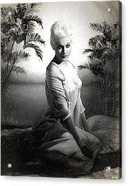 Kim Novak Sketch Acrylic Print by Quim Abella